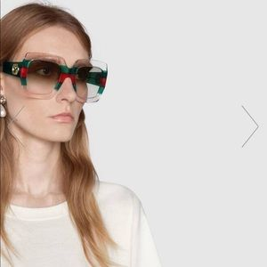 Authentic Gucci Clear Oversized SungLasses
